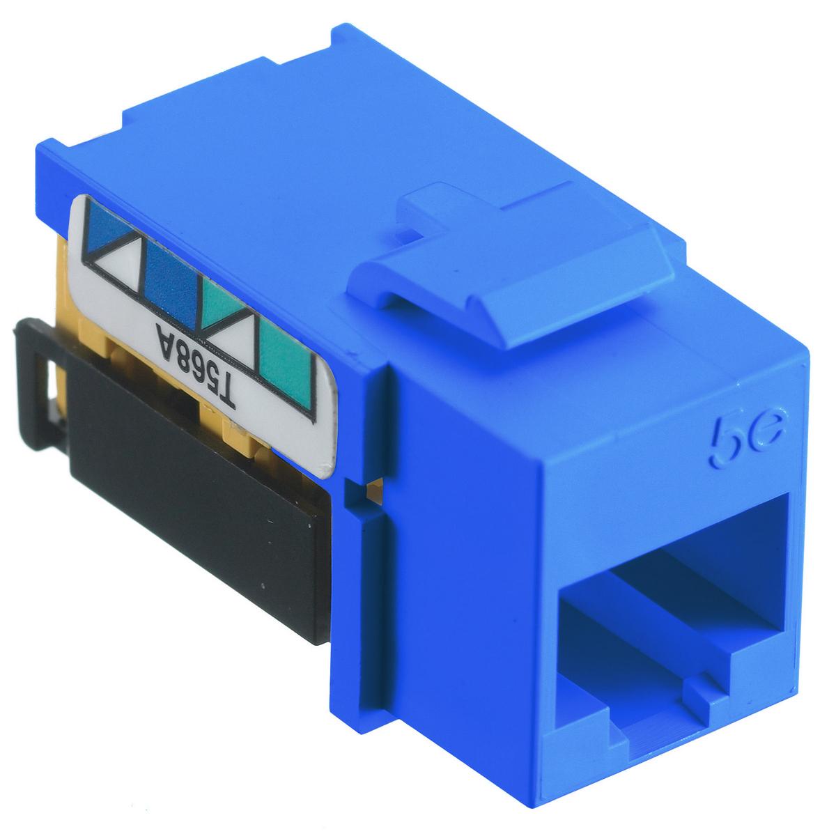 Hubbell NSJ5EB 8-Position Blue T568A/T568B Category 5E Modular Keystone Jack