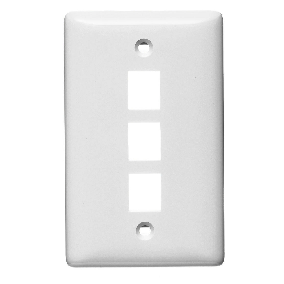 Hubbell NSP103W 1-Gang White Thermoplastic Medium 3-Port Data Communication Face Plate