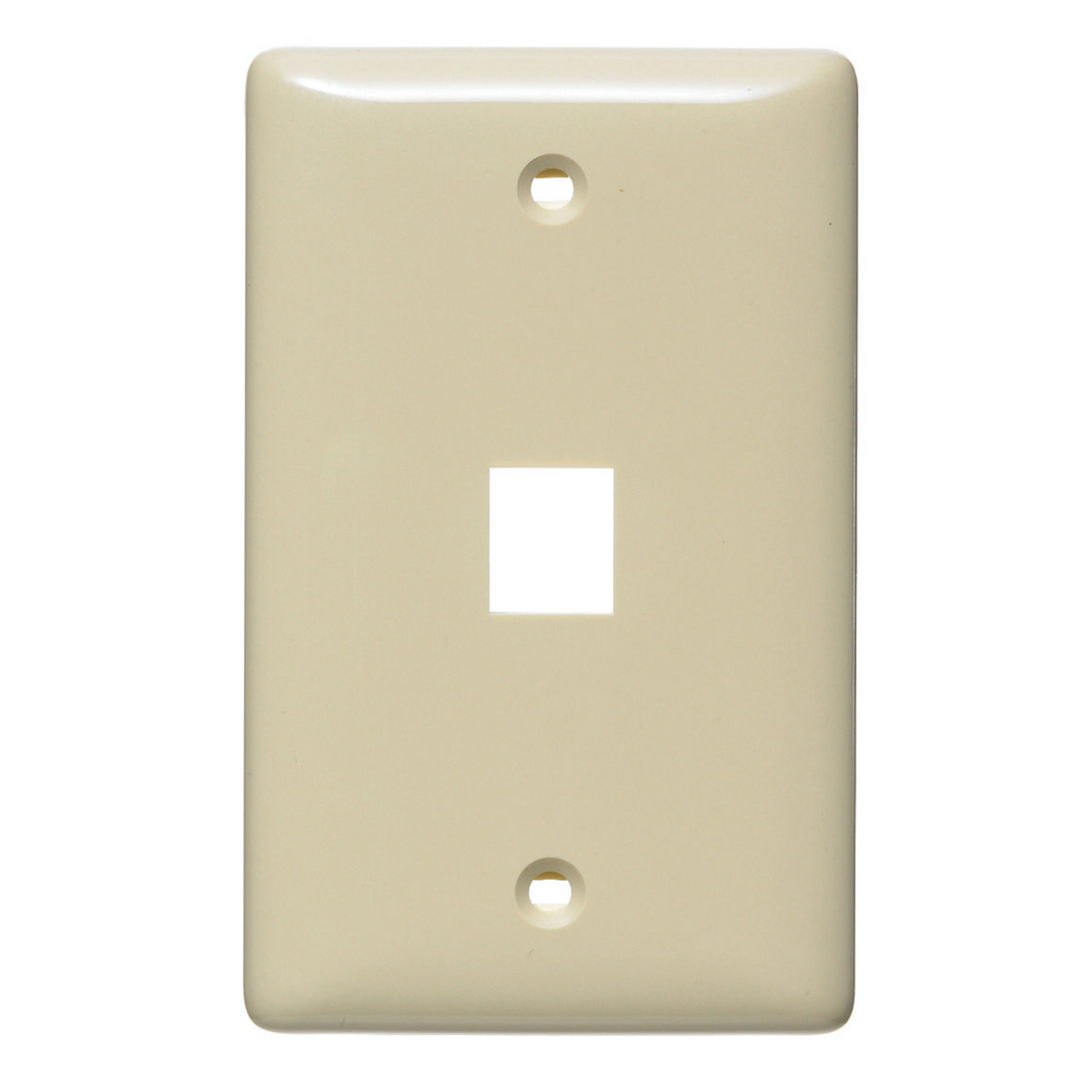 Hubbell NSP11I 1-Gang Ivory Thermoplastic Standard 1-Port Data Communication Face Plate