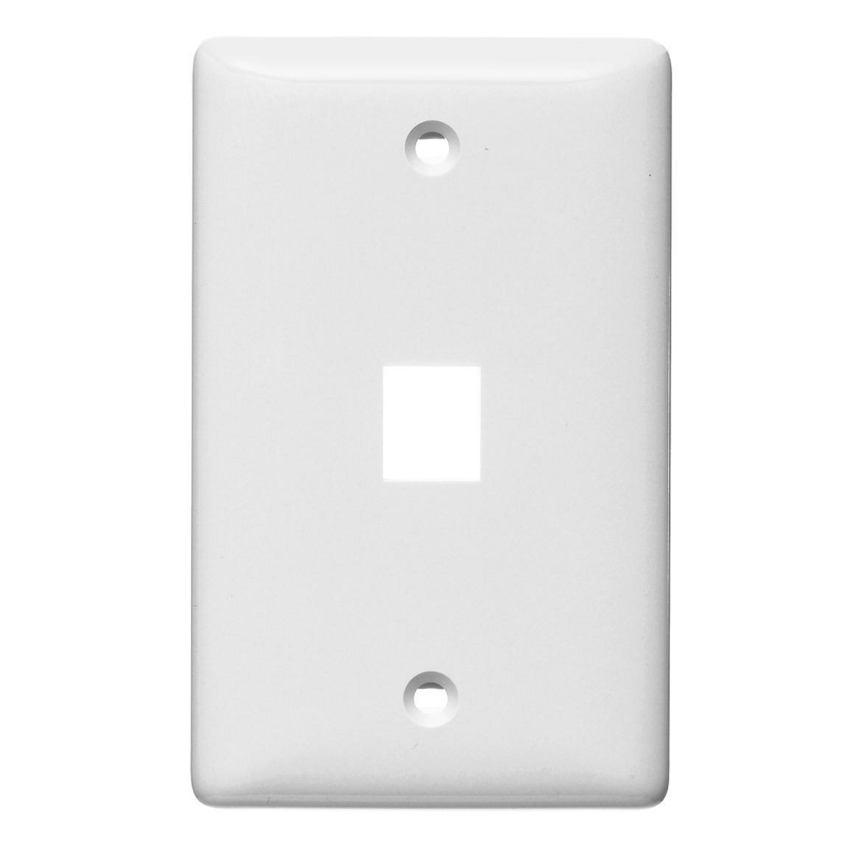 Hubbell NSP11W 1-Gang White Thermoplastic Standard 1-Port Data Communication Face Plate