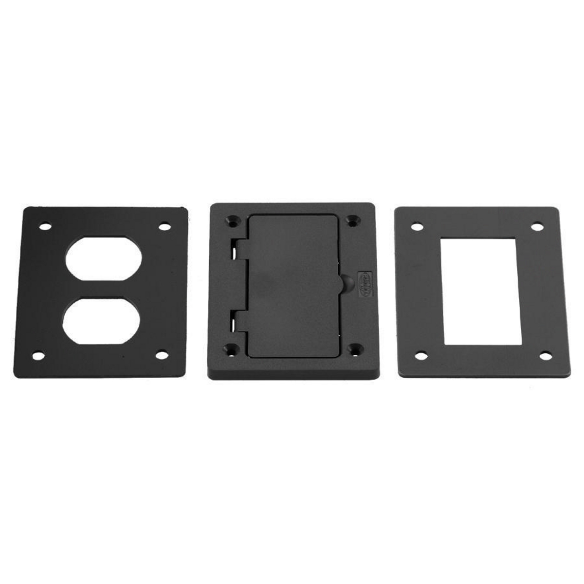 Hubbell PFBR826BLA 4.15 x 2.97 Inch Black Non-Metallic Rectangular Floor Box Cover