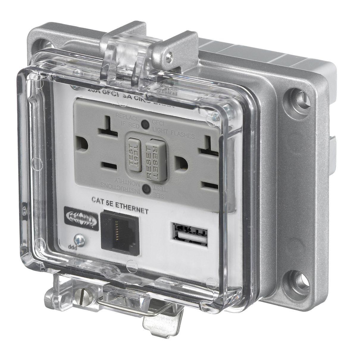 Hubbell Wiring Devices PR205EUSBA2VGA