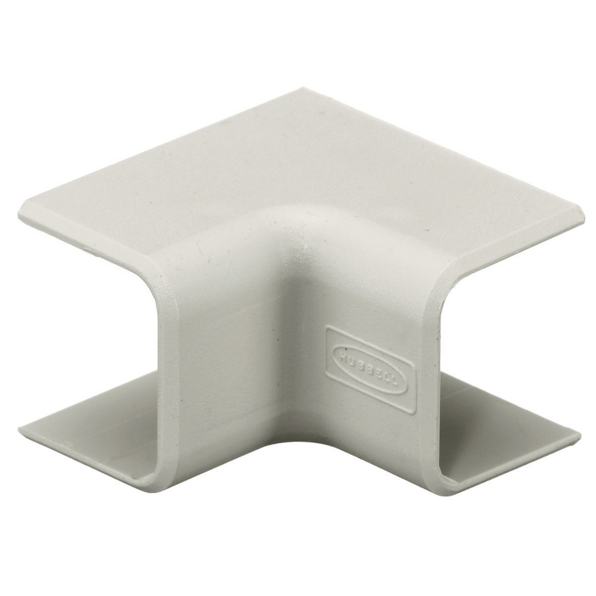 Hubbell PT1IE 1.34 x 0.89 x 1.34 Inch Office White Raceway Internal Elbow Cover