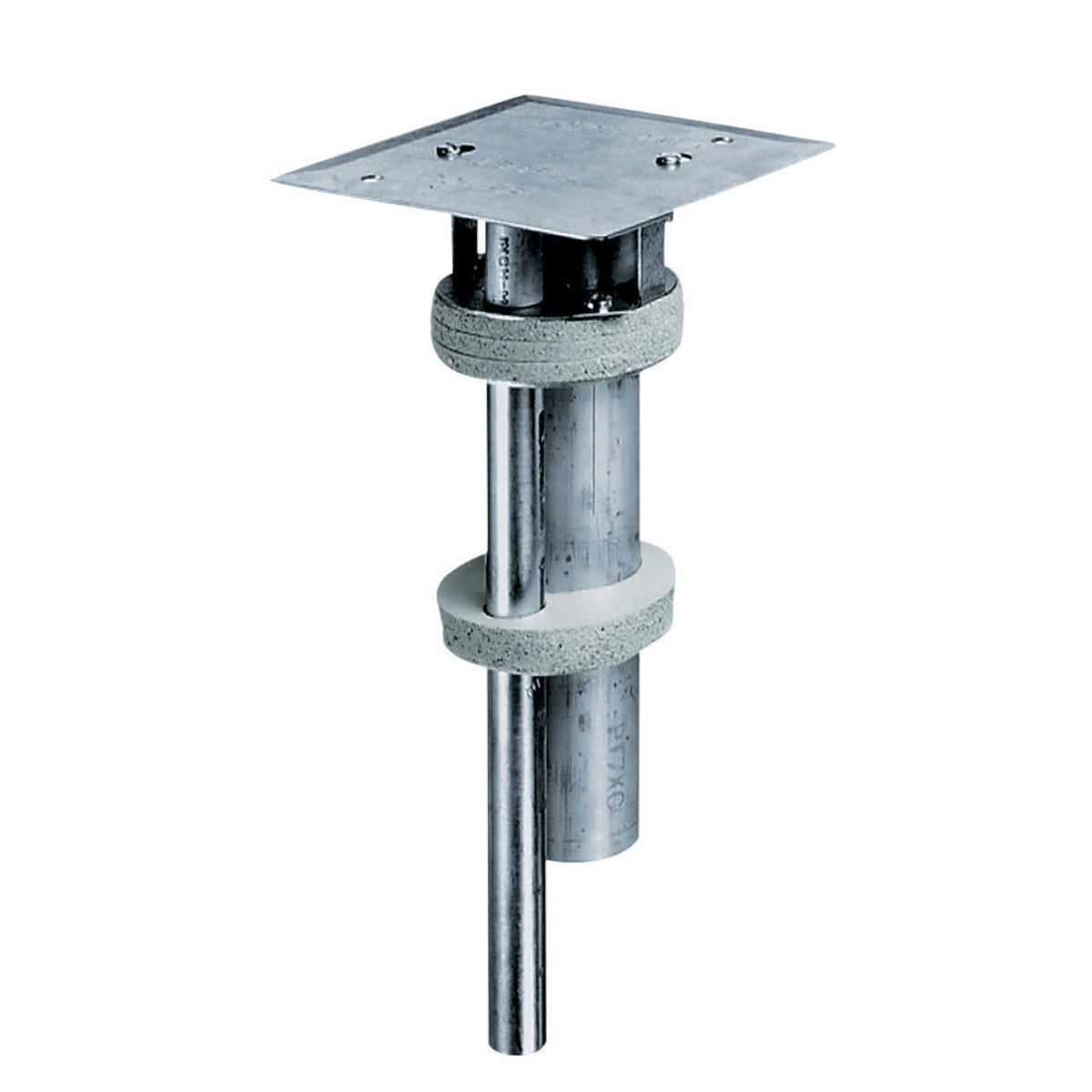 Hubbell PT7XC 3 Inch Large Capacity Multi-Service Floor Pedestal Through