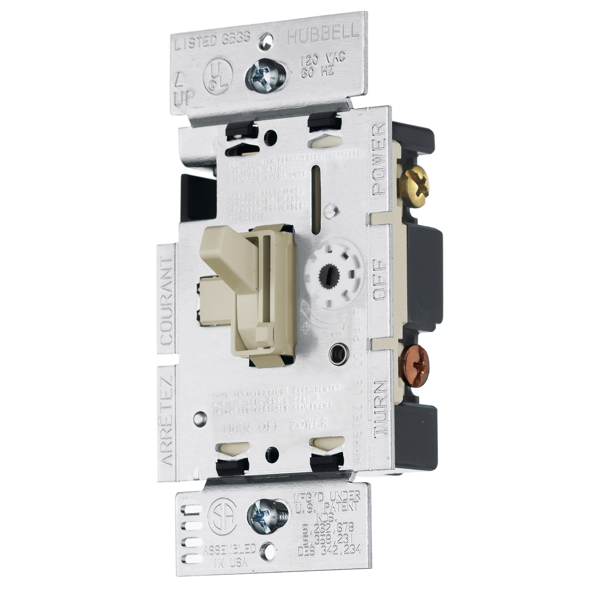 HUBRAYCL153PI SP/3-WAY DIMMER CFL AND LED, IVORY ,RAYCL153PI, HUBBELL