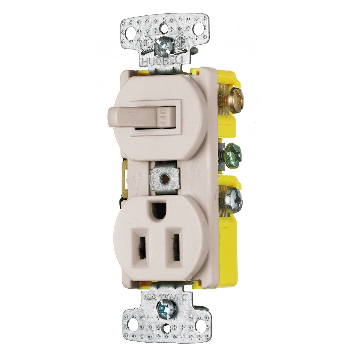 Rc108la Brand Wiring Device Kellems Receptacle Switch Combo