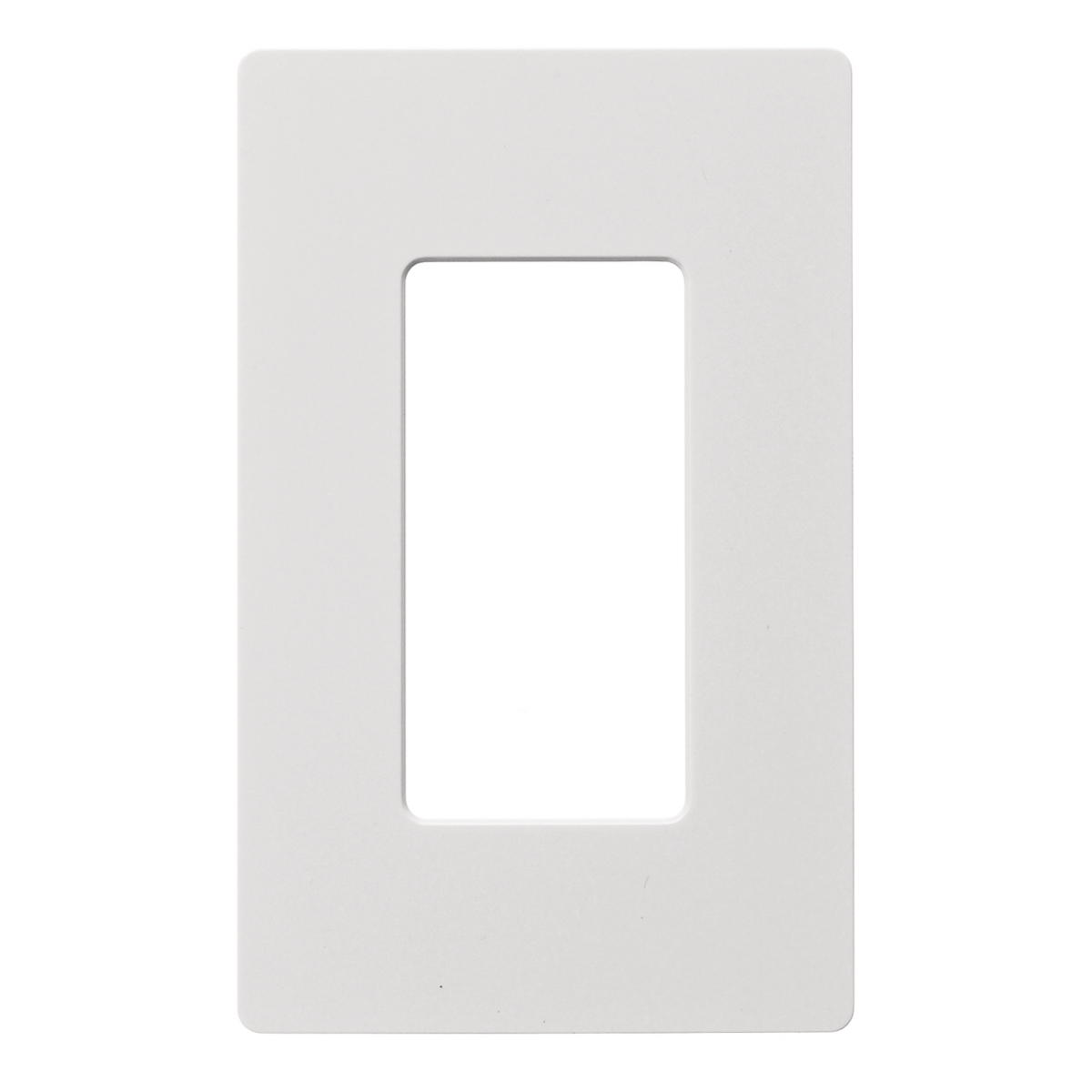 Hubbell RCW1W 1-Gang White Polycarbonate 1-Decorator Switch Snap-On Wallplate