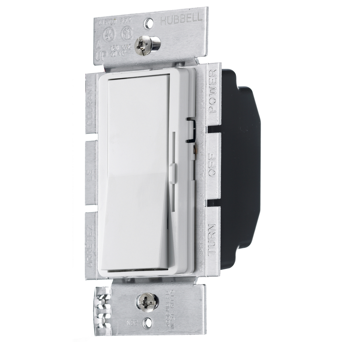 HUBRDV10PW DIMMER, SP, ILL RKR, 1000W 120V, WH ,RDV10PW, HUBBELL
