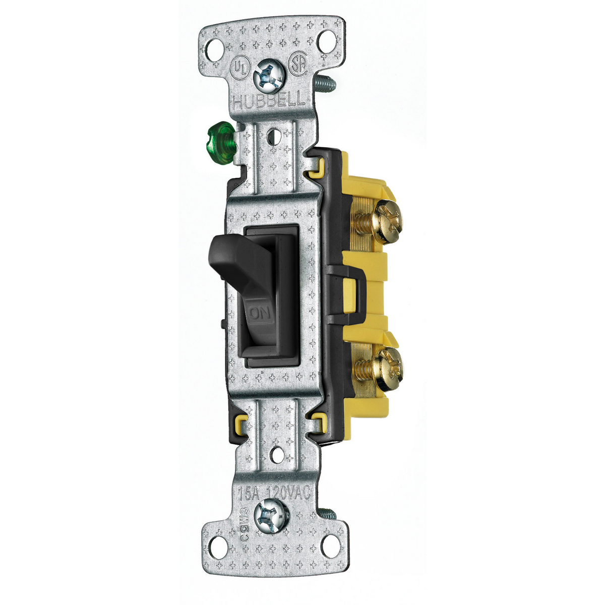 Switches United Electric 15 Amp Single Pole Toggle Switch With Side And Push Wiring White Hubbell Rs115bk Device Kellems Tradeselect Lightingcontrols Residential Grade