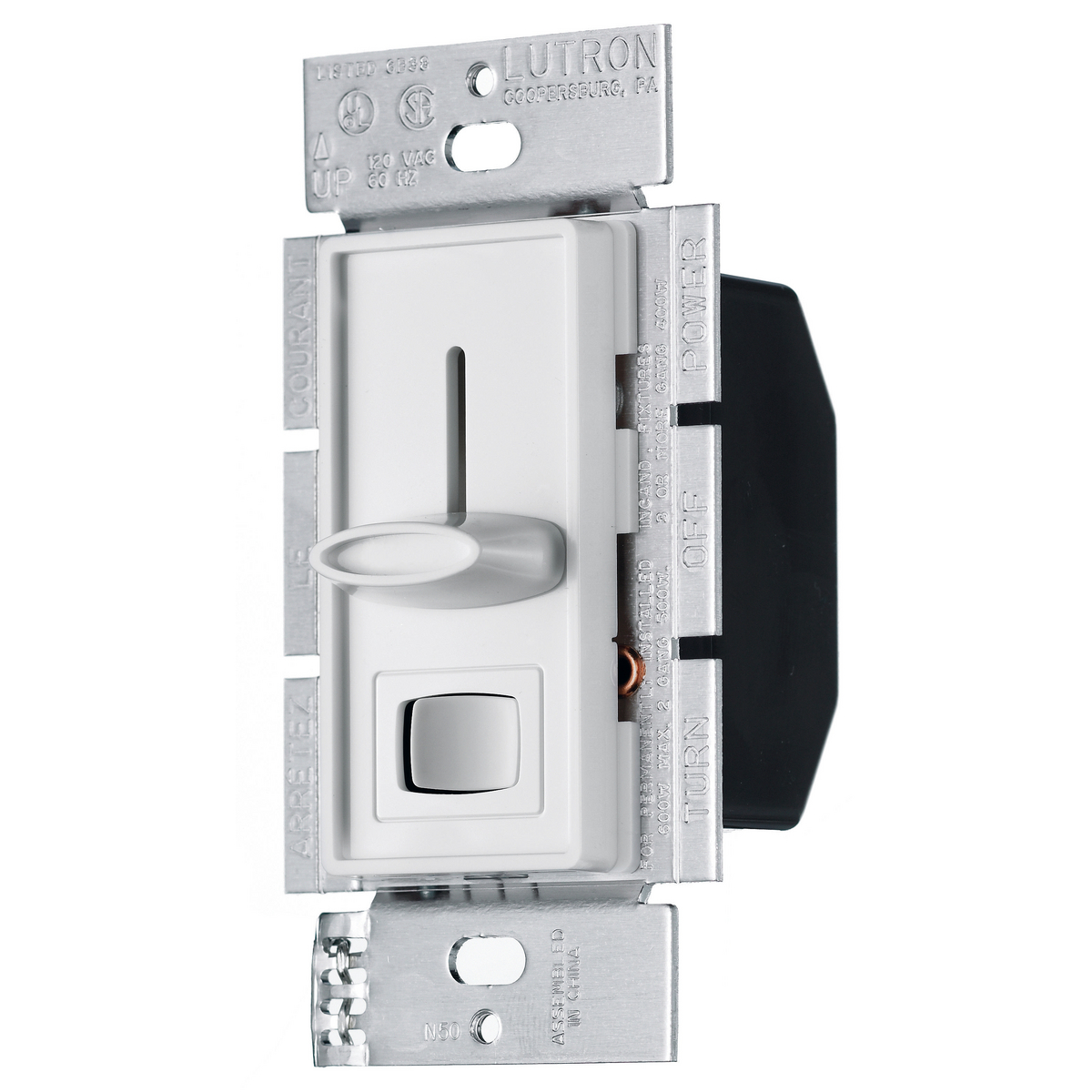 HUBRS600PW DIMMER, SP, SLIDER P-SET, 600W 120V, WH ,RS600PW, HUBBELL
