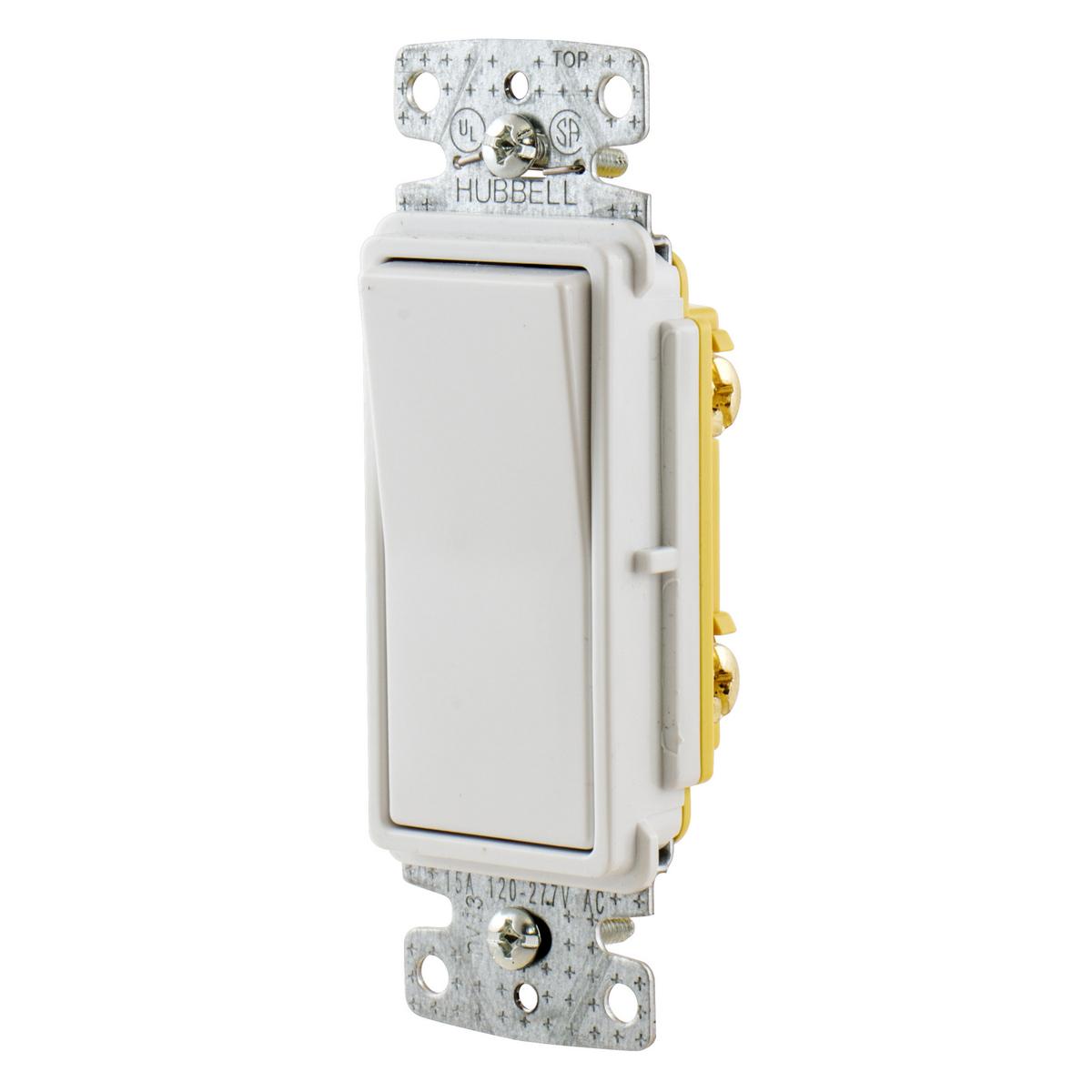 Rsd115w Brand Wiring Device Kellems Light Switch Ac Wbp Prodimage Np26w Angle Front