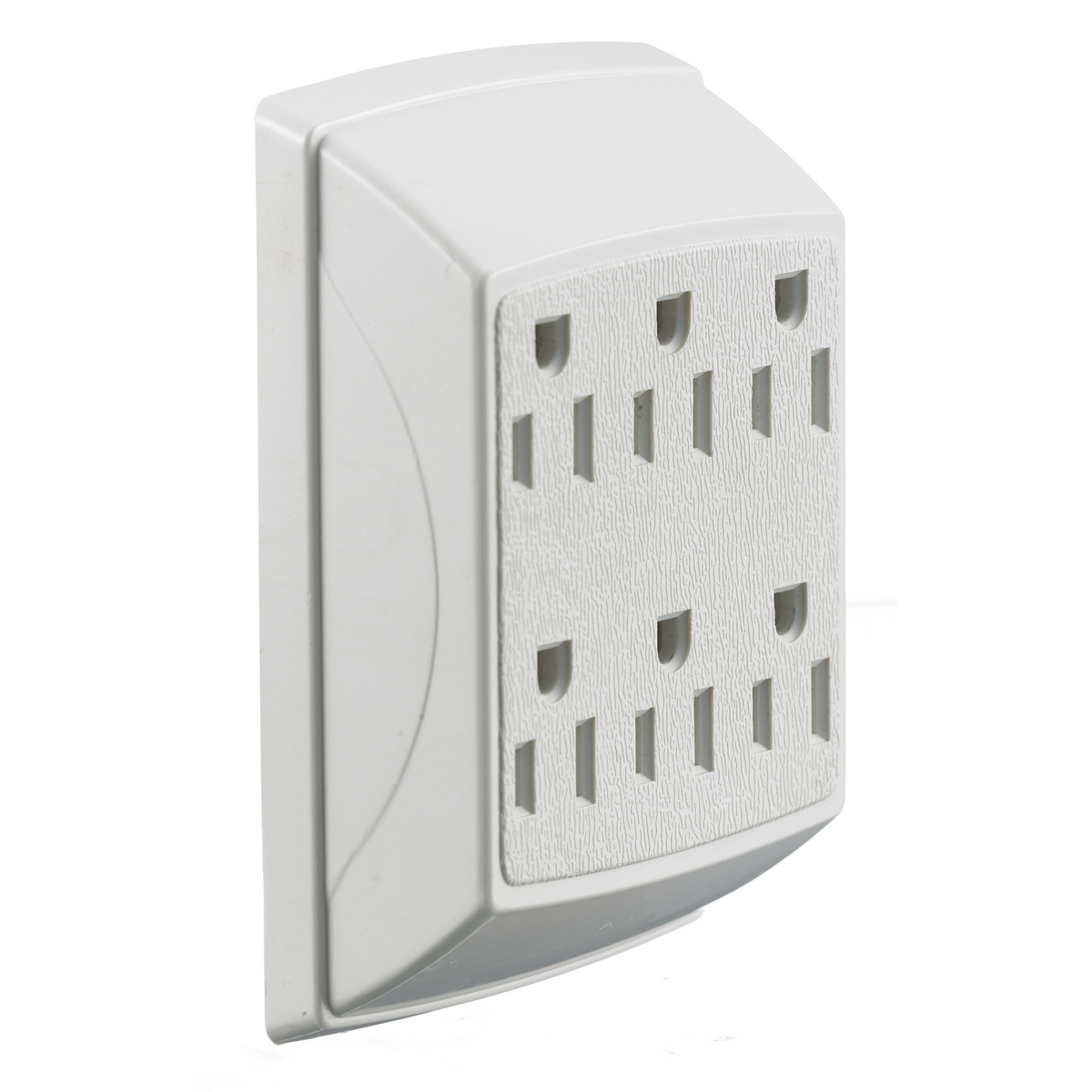 Hubbell RT600W TAP, DUPLEX TO 6 OUTLET, 15A 125V, WHITE