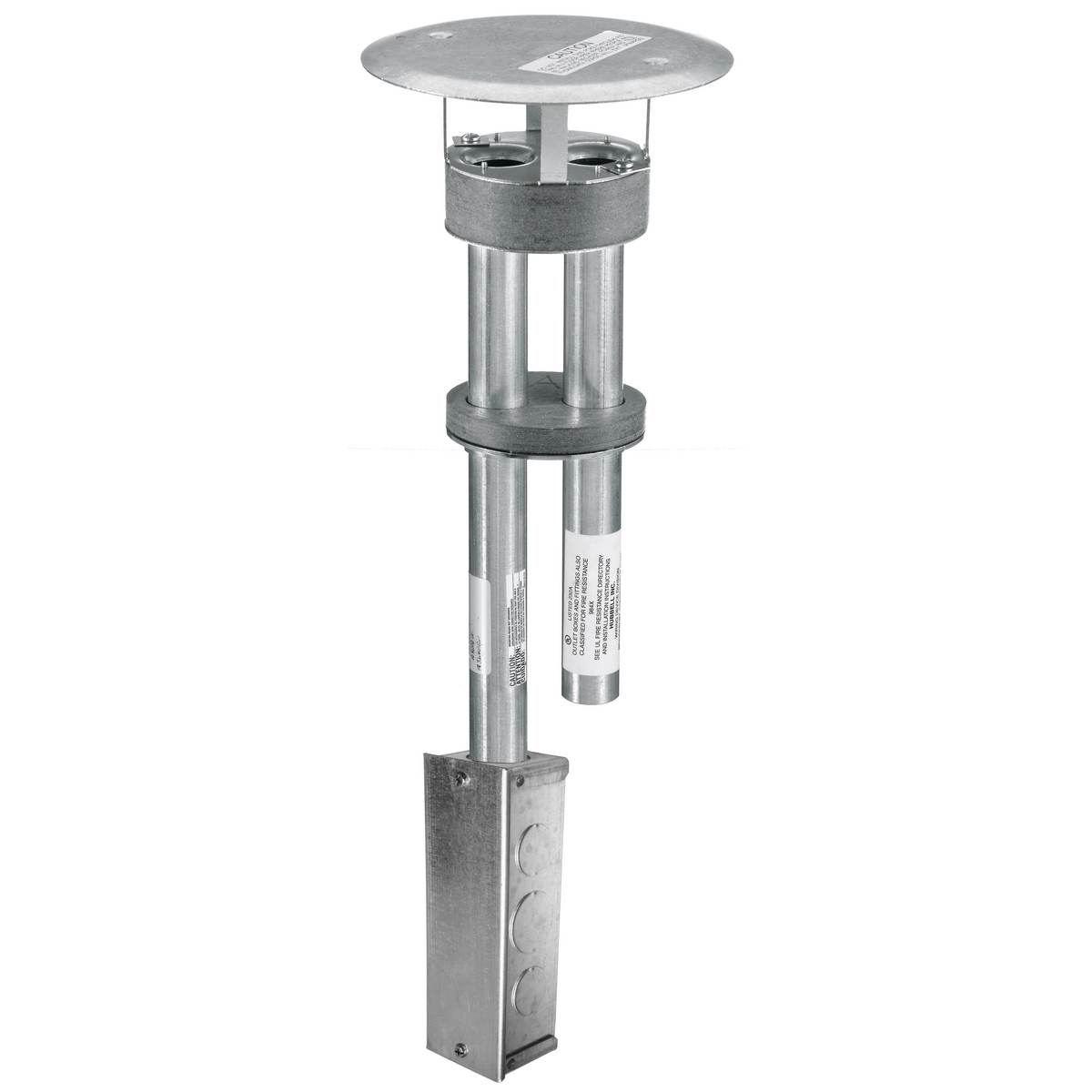 Hubbell S1PTFITJ Through Floor Fitting Fire-Rated Poke-Through with Junction Box