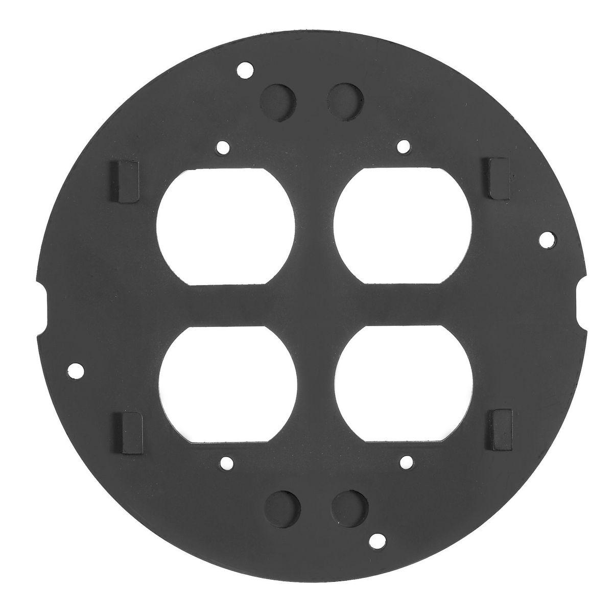 Hubbell S1SPDU Duplex/Duplex Concrete Floor Box Fire Rated Poke-Through Subplate