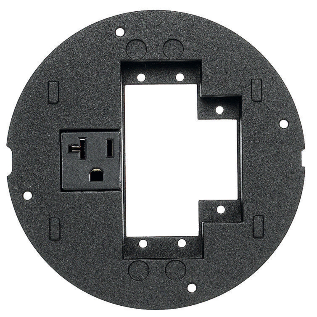 Hubbell S1SPEXT2 SystemOne Sub-Plate for 2 Extron APP Plate 1 Extron MAAP and 20 Amp Receptacle