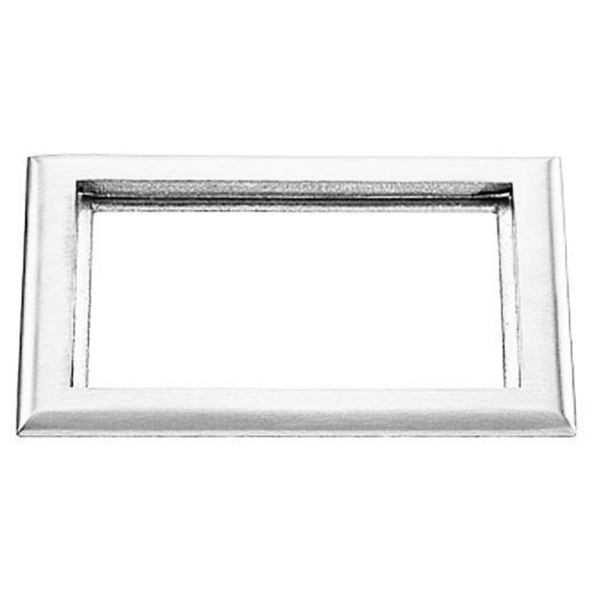Hubbell S3084 2-Gang 6 x 8.13 Inch Clear Polycarbonate Rectangular Floor Box Carpet Flange