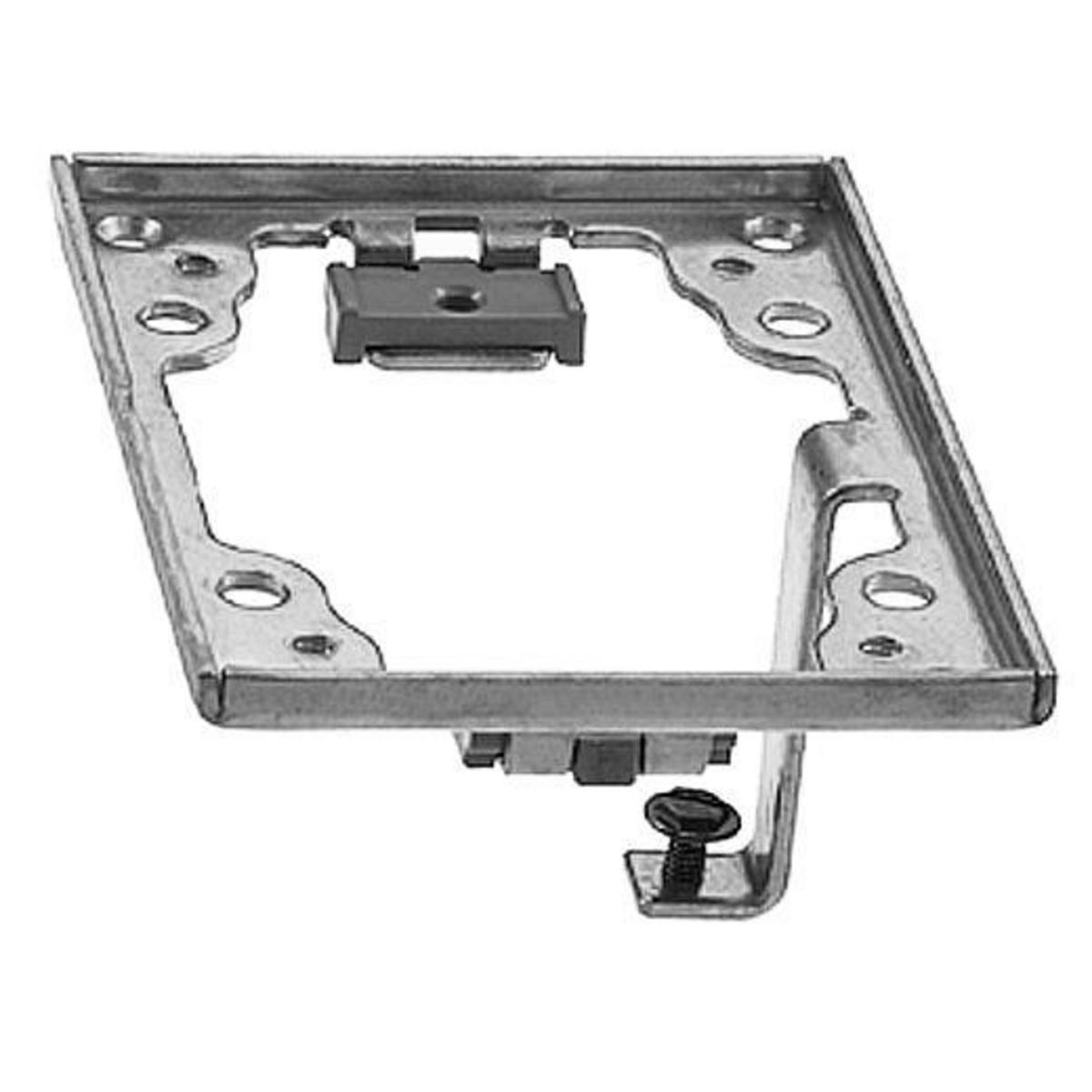 Hubbell SA5017G 4.36 x 3.2 Inch Aluminum Rectangular Adapter Frame with Grounding Lug