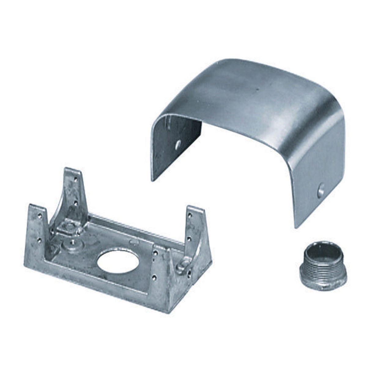 Hubbell SC3098A Frame Housing 3/4 Inch Chase Nipple 2-Gang Die-Cast Aluminum Pedestal