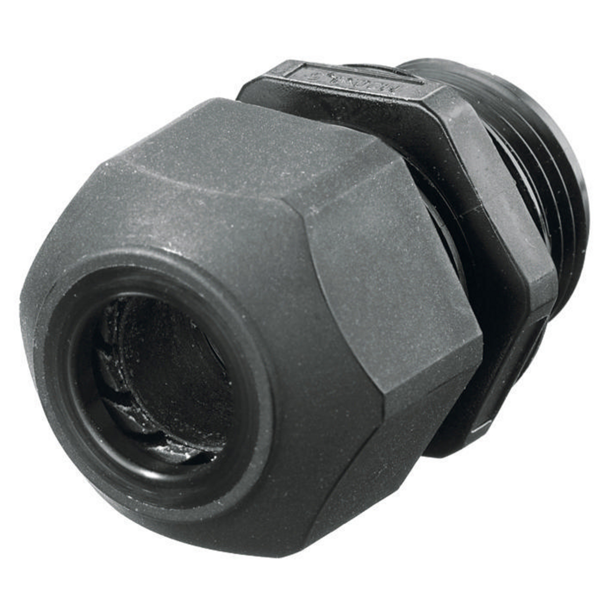 Hubbell SEC75BA 3/4 Inch Threaded 0.45 to 0.71 Inch Black Non-Metallic Low Profile Cord Connector