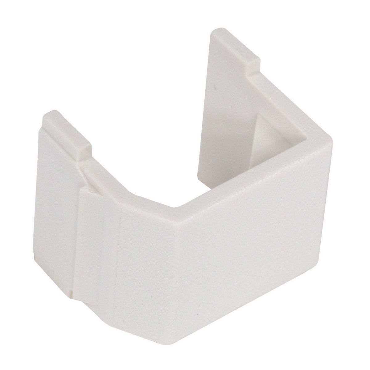 Hubbell SFB10 Blank Office White Snap-Fit Modular Connector