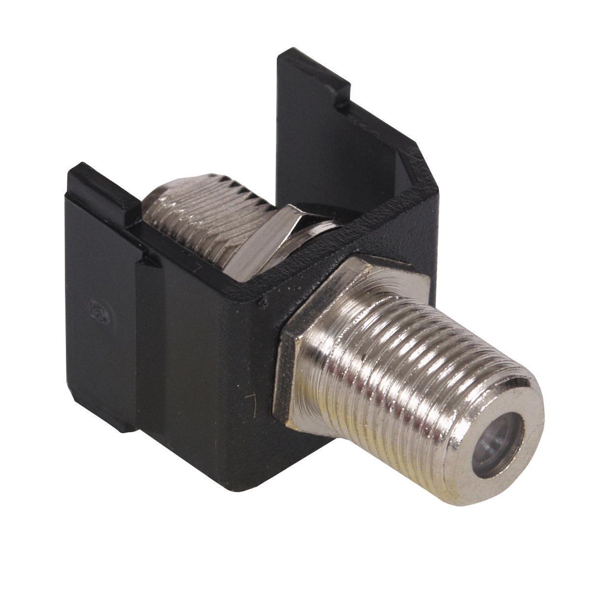 Hubbell SFFBX Black F-Type Audio/Video Keystone Connector