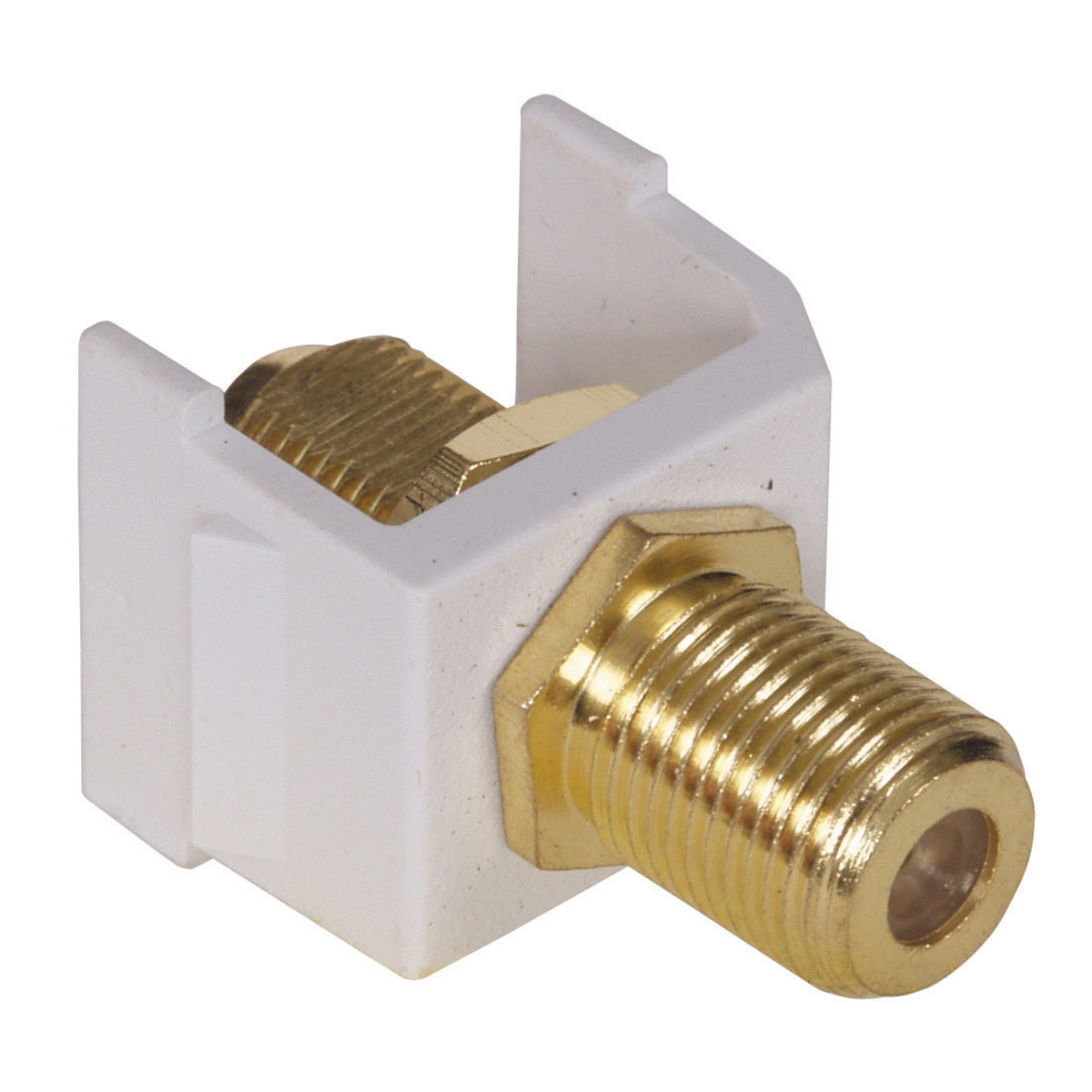 Hubbell SFFGW SNAP-FIT, GOLD F CONN, WH