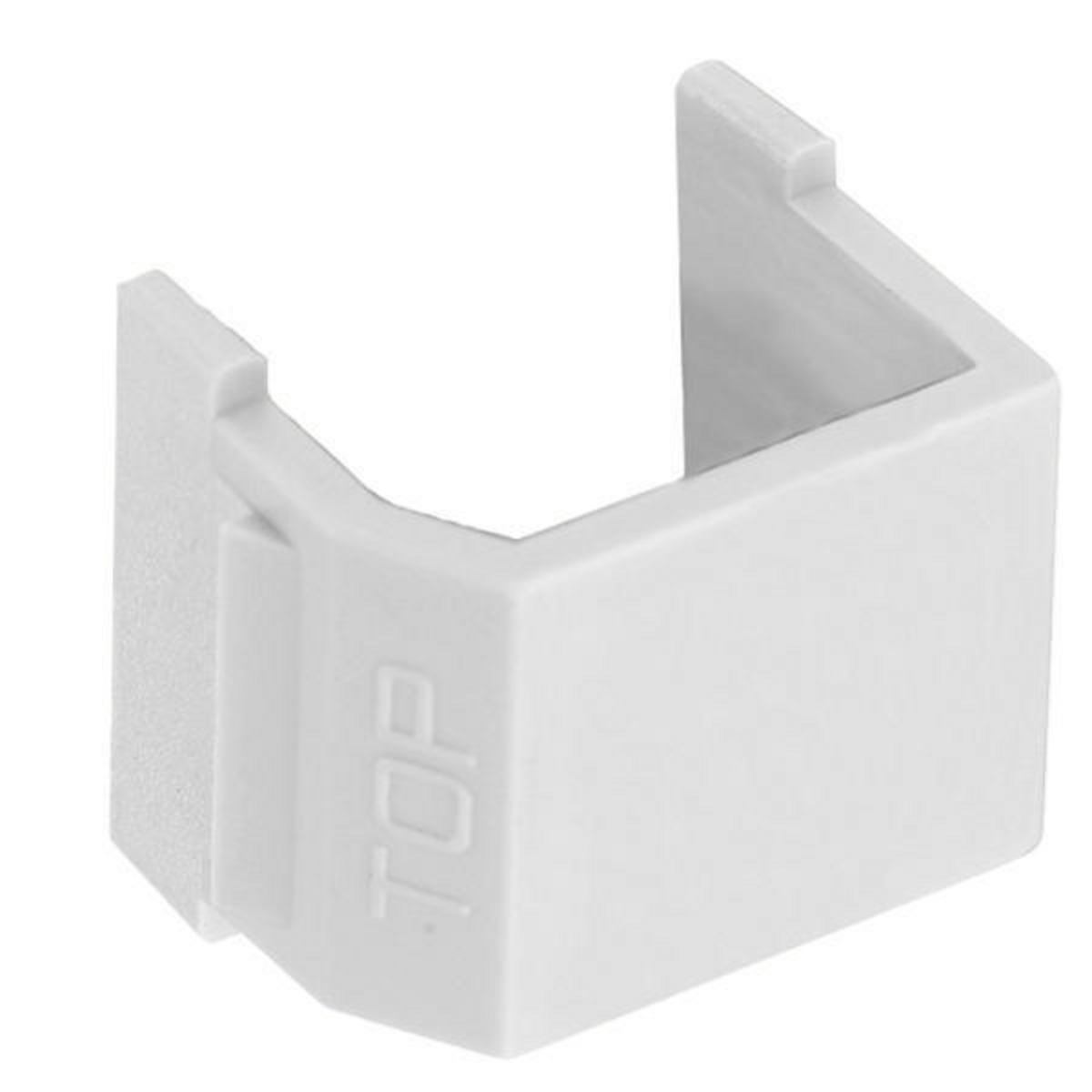 Hubbell SFSBW10 Blank White Snap-Fit Modular Connector