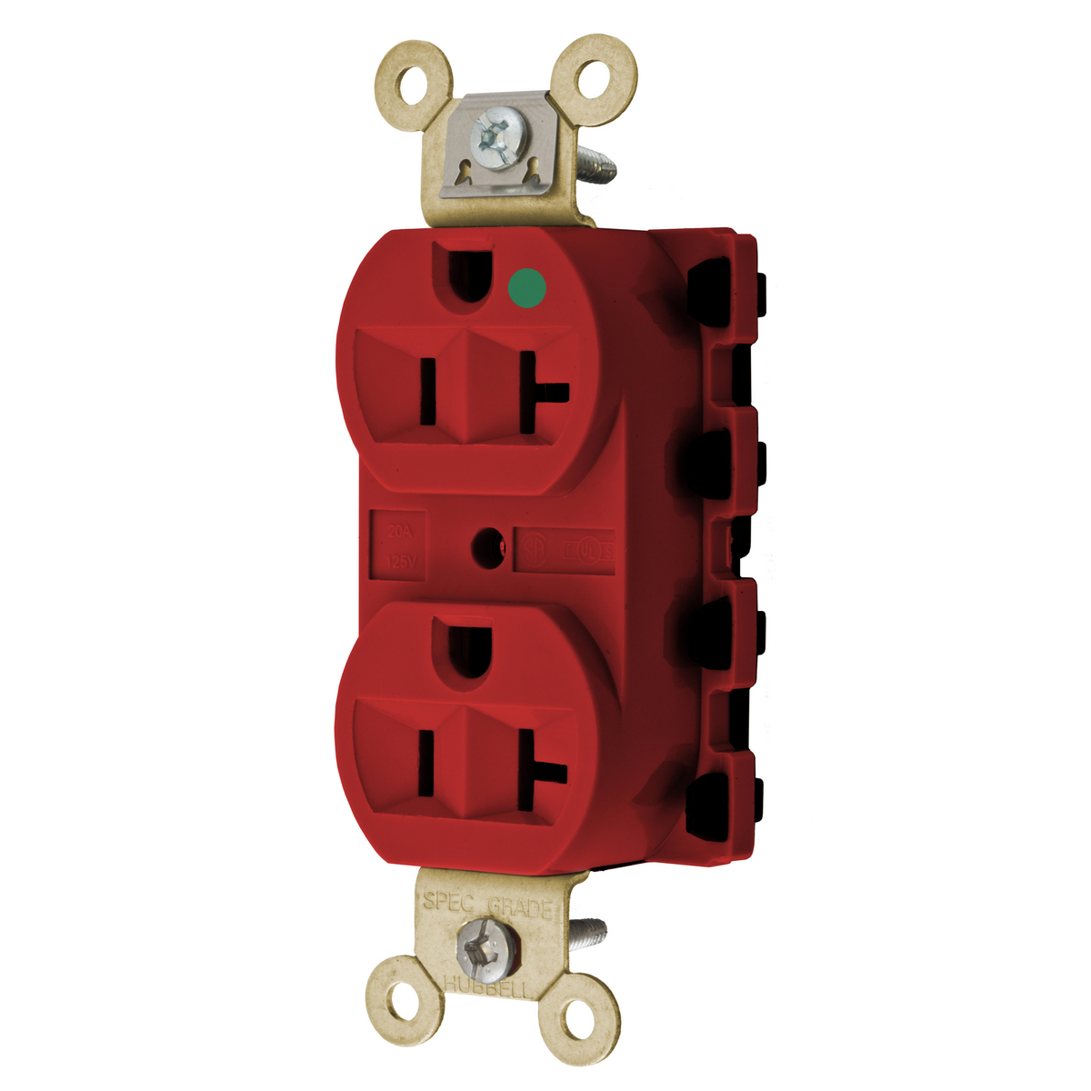 SNAP2CONNECT 20A/125V HG DPLX,RED