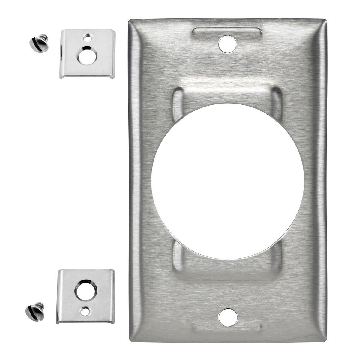 Hubbell SS750 1-Gang Stainless Steel 50 Amp Receptacle Locking Wallplate