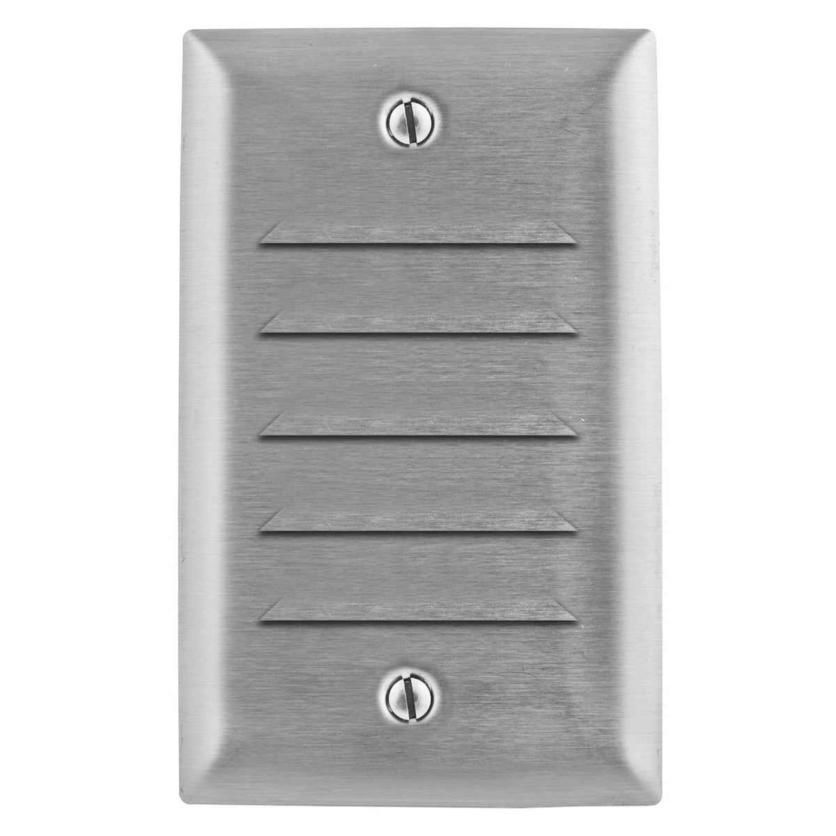 Hubbell SS771 WALLPLATE, 1-G, LOUVER, SS