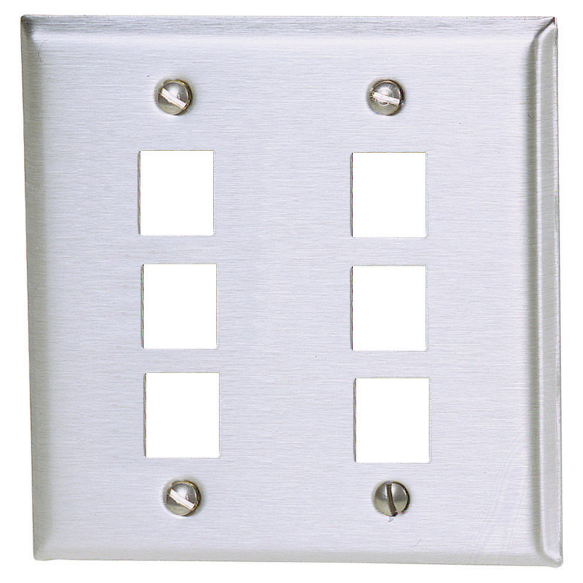 Hubbell Premise Wiring Ssf206 Wall Plate,6 Port