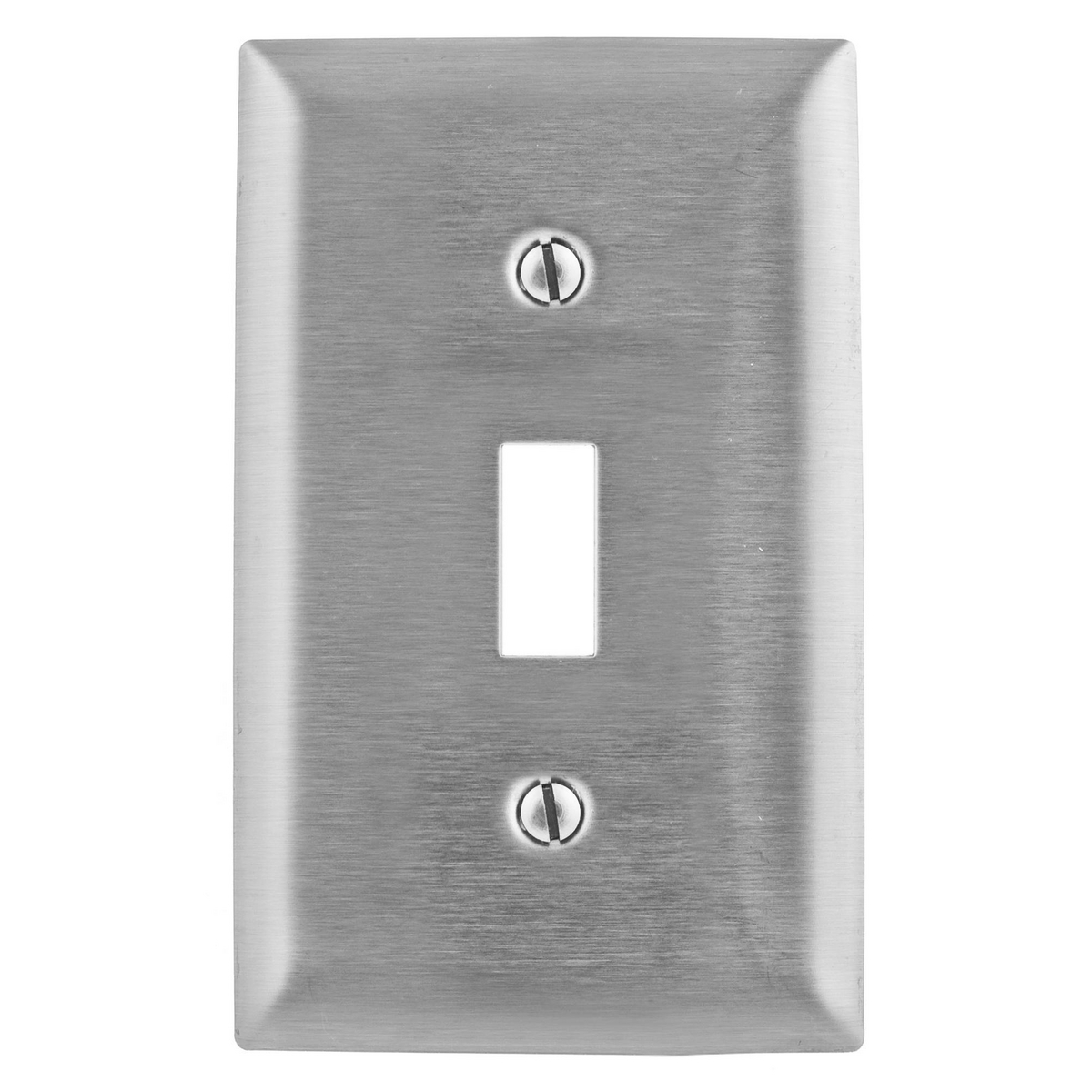 Hubbell SSJ1 1-Gang Stainless Steel Jumbo 1-Toggle Switch Strap Mount Wallplate