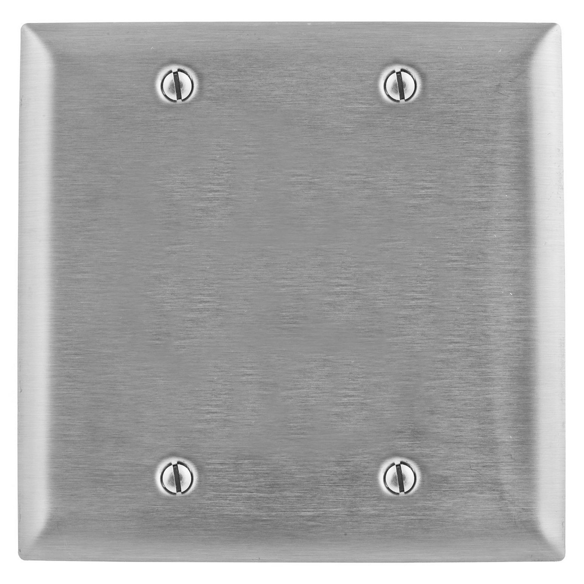 Hubbell SSJ23 2-Gang Stainless Steel Jumbo 2-Toggle Switch Strap Mount Wallplate