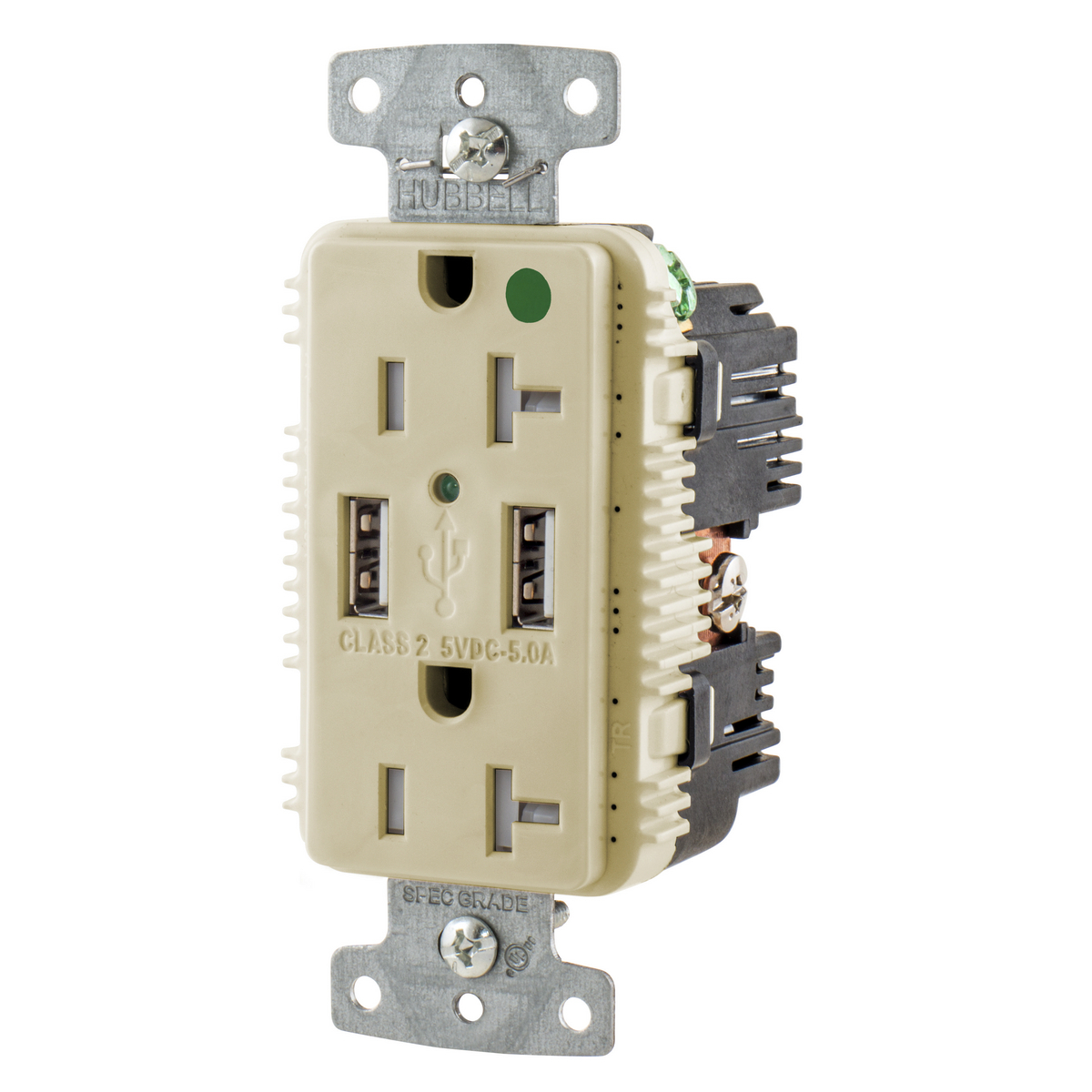 Combination Devices United Electric Leviton Light Almond Decora Triple Rocker Wall Switch Triplex Hubusb8300a5i Rcpt Hg Dup 20a 125v 5a 5v Usb Port A I Usb8300a5i Hubbell