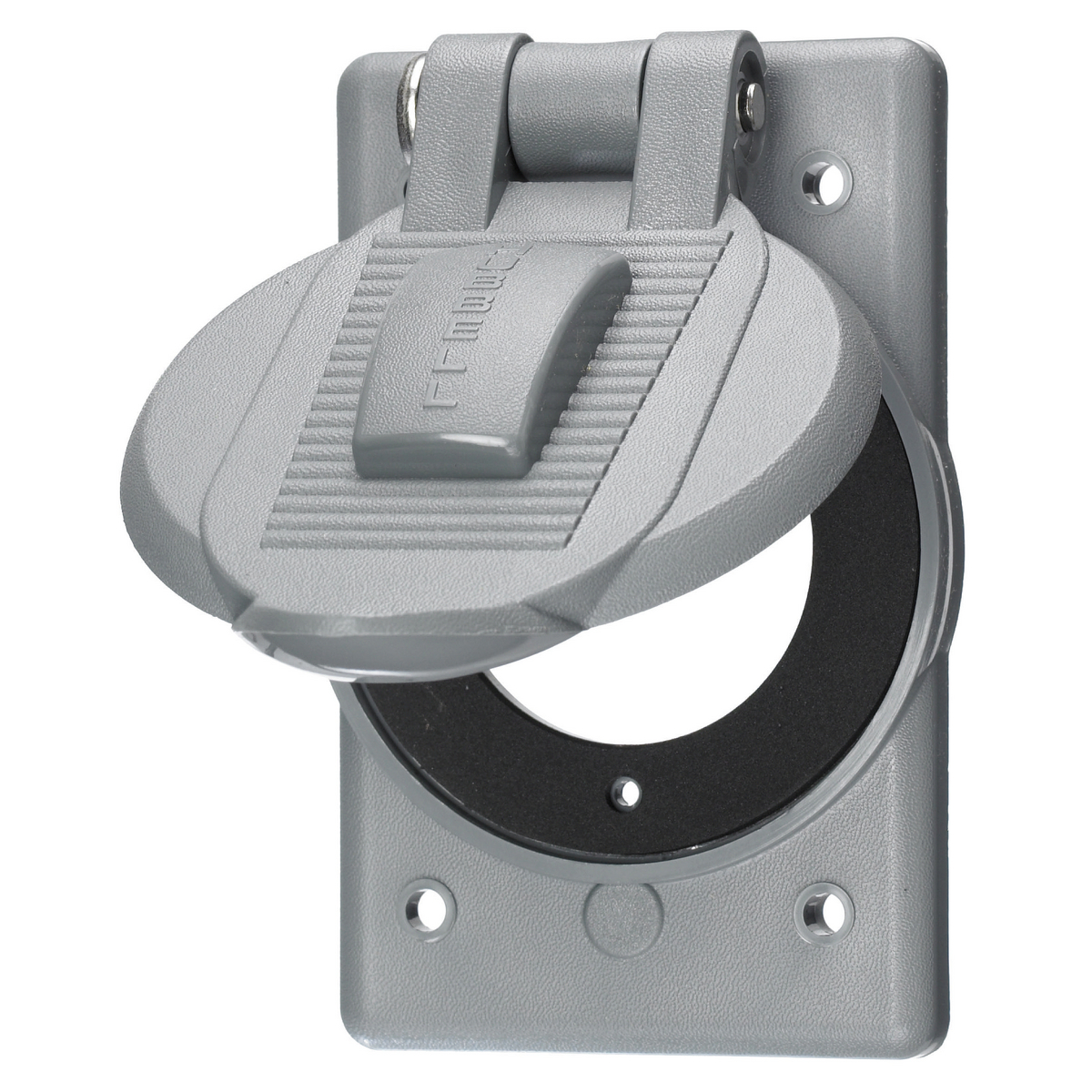 Hubbell WP1 1-Gang Weatherproof Cover for Flanged Inlets & Flanged Receptacles, 15 & 20A, 2-pole 2-wire & 2-pole 3-wire INSULGRIP