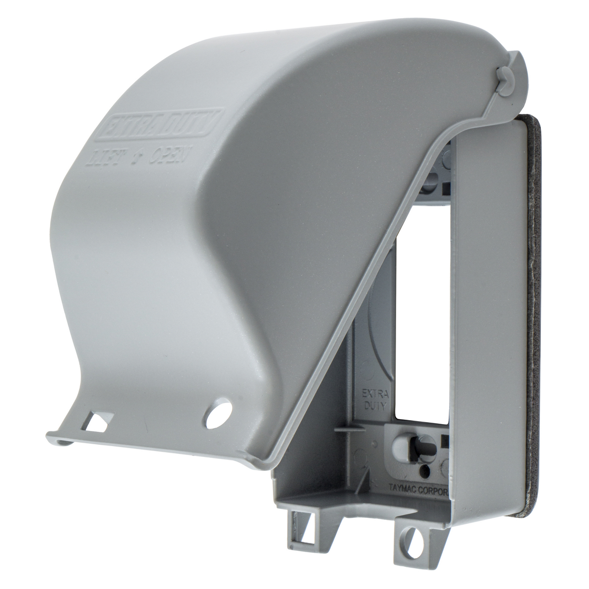 Hubbell WP26E 1-Gang Gray Cast Aluminum Vertical Mount Extra Duty Metallic GFCI Cover