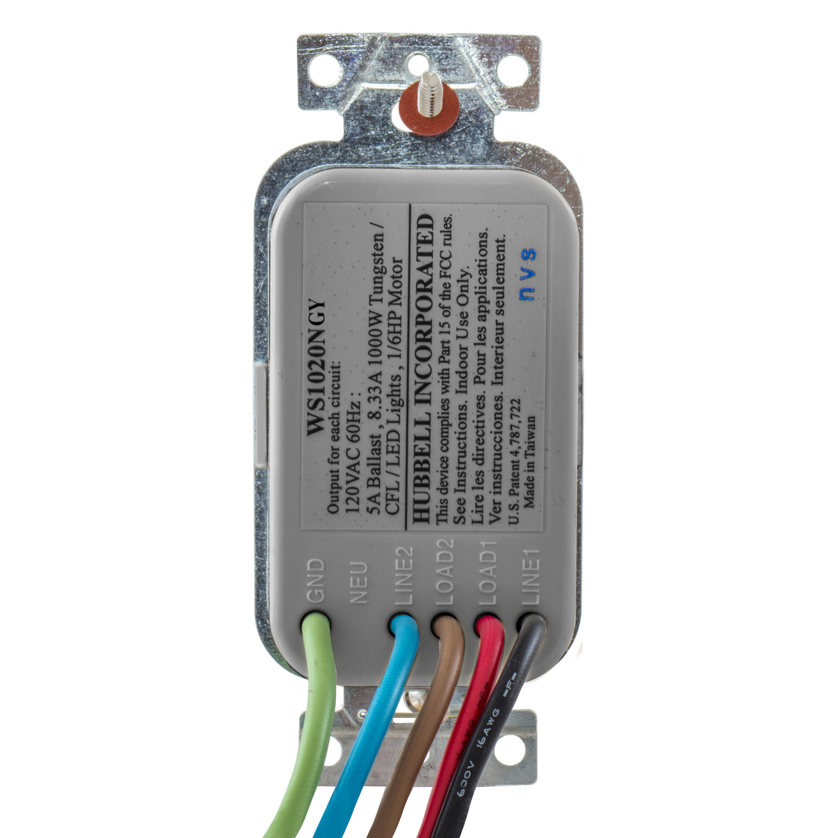 WS1021GY   Wall Switch Sensors   Lighting Controls   Wiring Devices ...