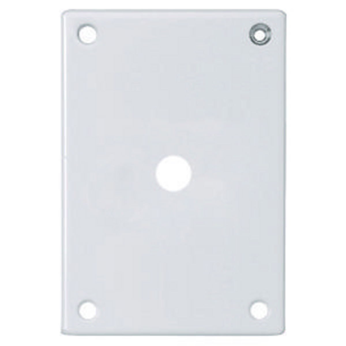 Hubbell SWP12 SEC WALLPLATE, 1-G, TELE/TV, WH