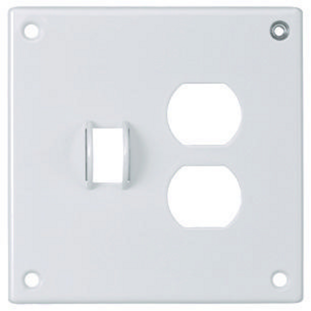 Hubbell SWP18 SEC WALLPLATE, 2-G, TOG/DUP, WH