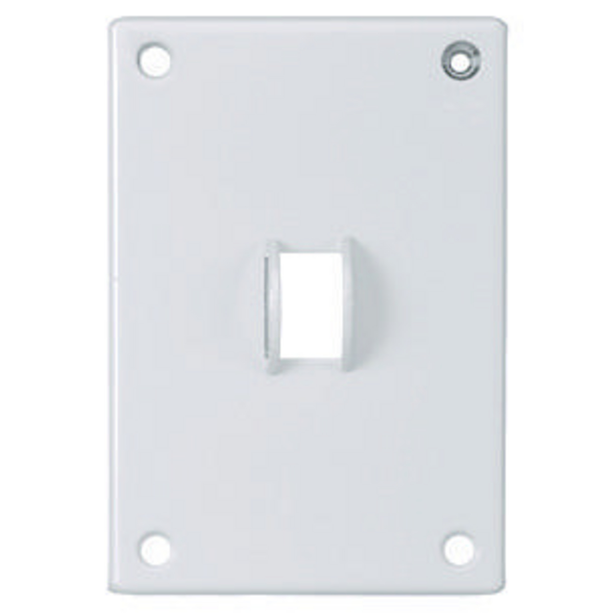 Hubbell SWP1 SEC WALLPLATE, 1-G, SWITCH, WH