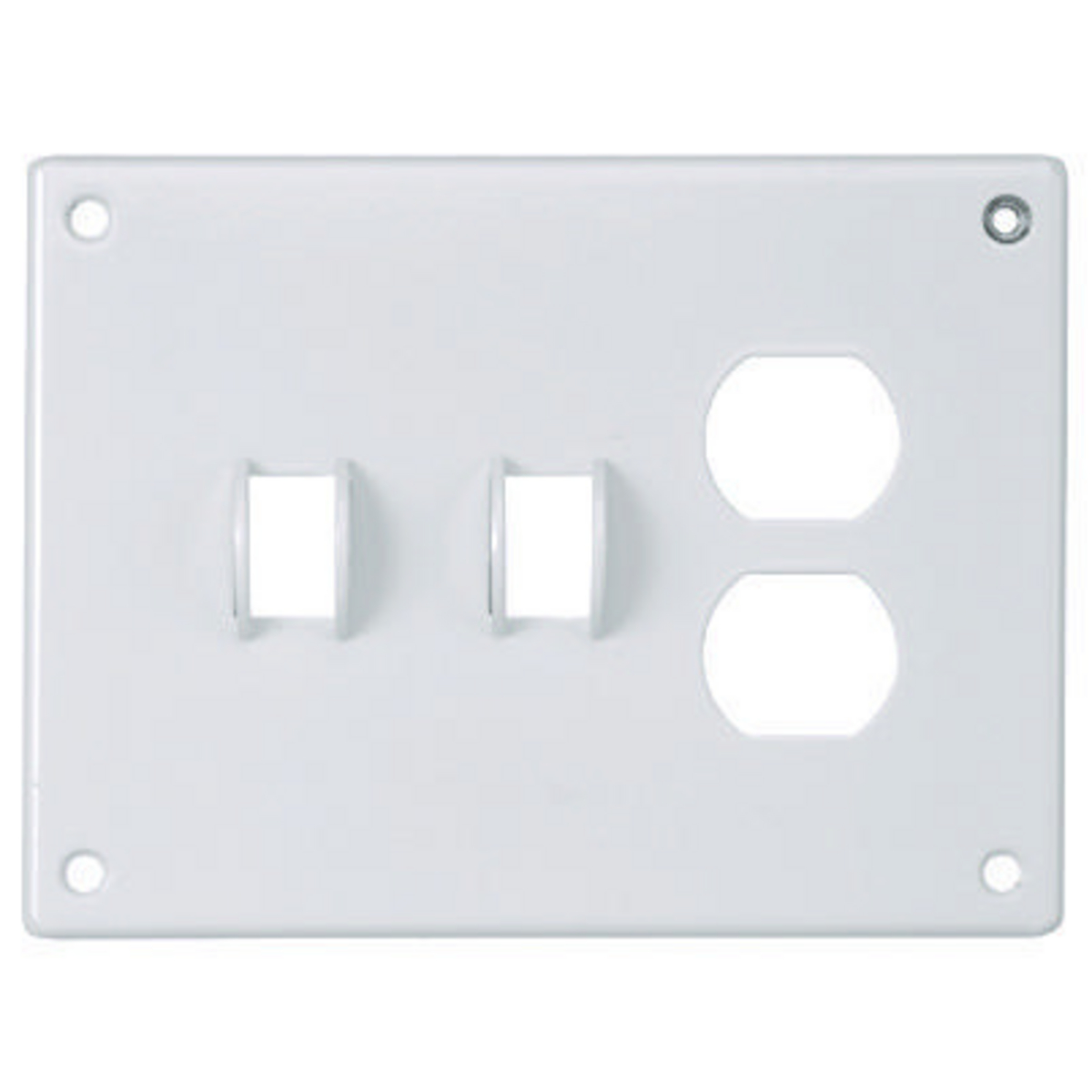 Hubbell SWP28 SEC WALLPLATE, 3-G, Sw/Sw/DUP, WH