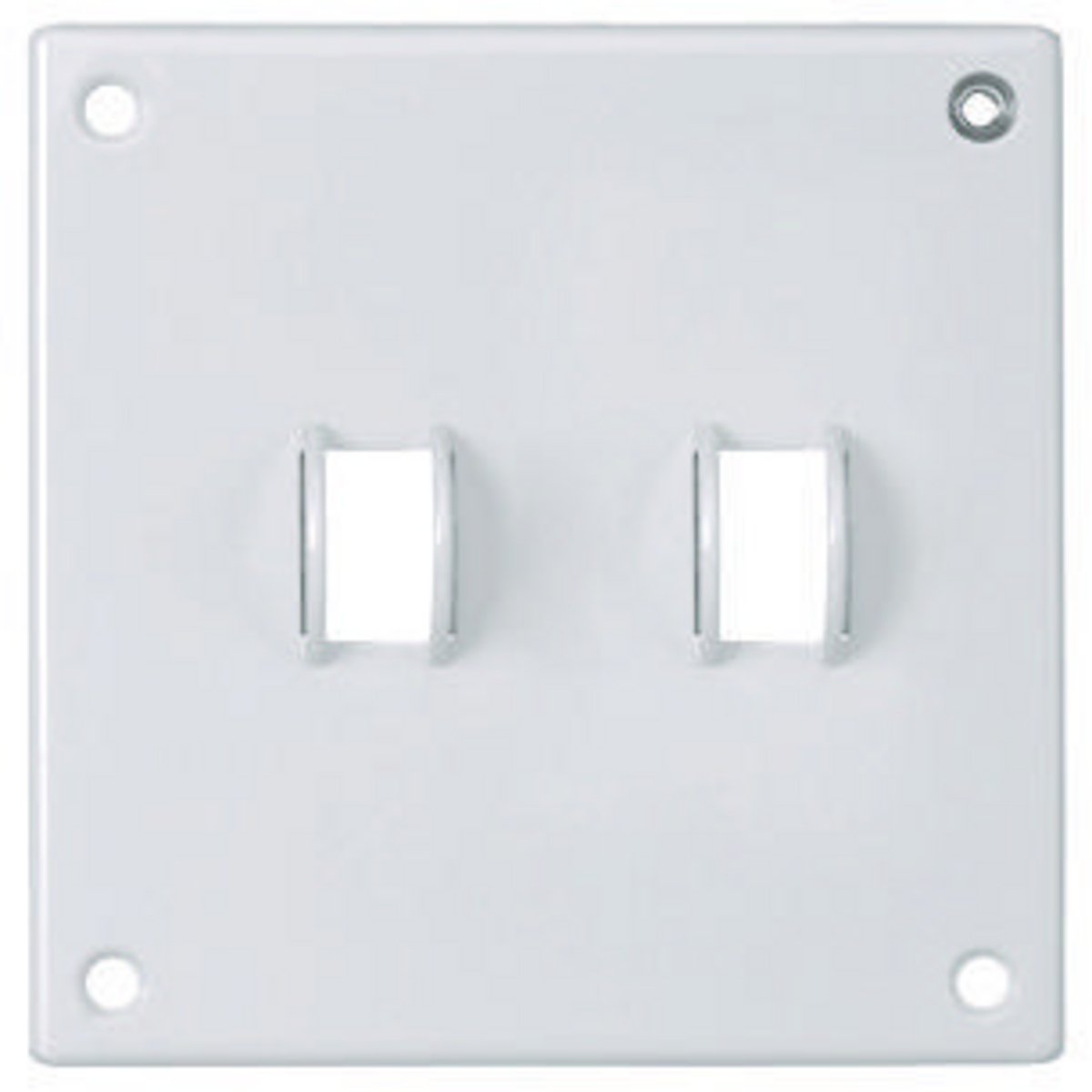 Hubbell SWP2 SEC WALLPLATE, 2-G, TOG, WH