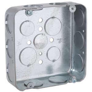 """4/"""" Square Welded Electrical Box 2-1//8 Deep TS Bracket Concentric KO/'s ~Raco 235"""