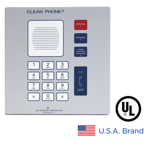 Clean Phone® (VoIP), 14 Button, Flush-Mount, CE certified RoHS compliant