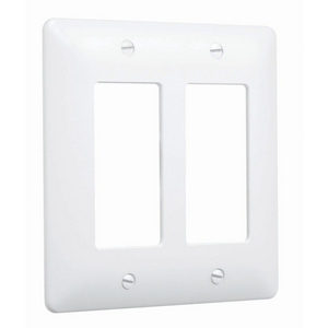 2-Gang MASQUE® 5000 Wallplate, Decorator, White