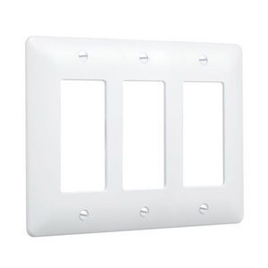 3-Gang MASQUE® 5000 Wallplate, Decorator, White
