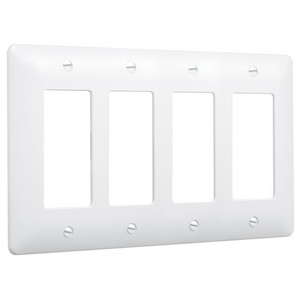 4-Gang MASQUE® 5000 Wallplate, Decorator, White