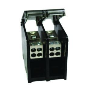 Al Power Distribution Block, 2 Pole, 175 Amp/Pole, #14-2/0 AWG(Run), #14-#2 AWG(Tap)