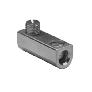 "Aluminum Mechanical Splice, 1/0-14 AWG, 7/16"" Screw Dia, 2 Screws, Al/Cu Rated, Tin Plated"