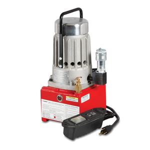 Electric Hydraulic Pump for use with all HYPRESS™ remote crimpers and cutters requiring 10,000 psi operating pressure, 100,000 (+) life cycles